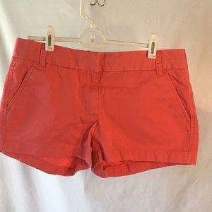 J. Crew Coral Chino Shorts Size 4